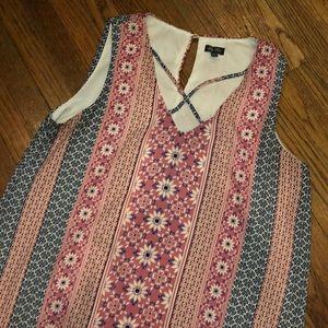 Juniors XL Pink & Floral Midi Shift Dress
